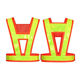 Polyester yellow reflective stripe safety vest reflective vest adjustable water proof reflective vests