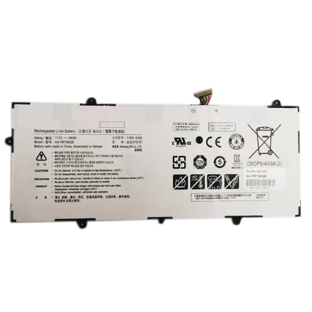 High Quality Genuine AA-PBTN6QB Battery For Samsung NP900X5N 900X5N Series 11.5V 66Wh White Battery for Samsung