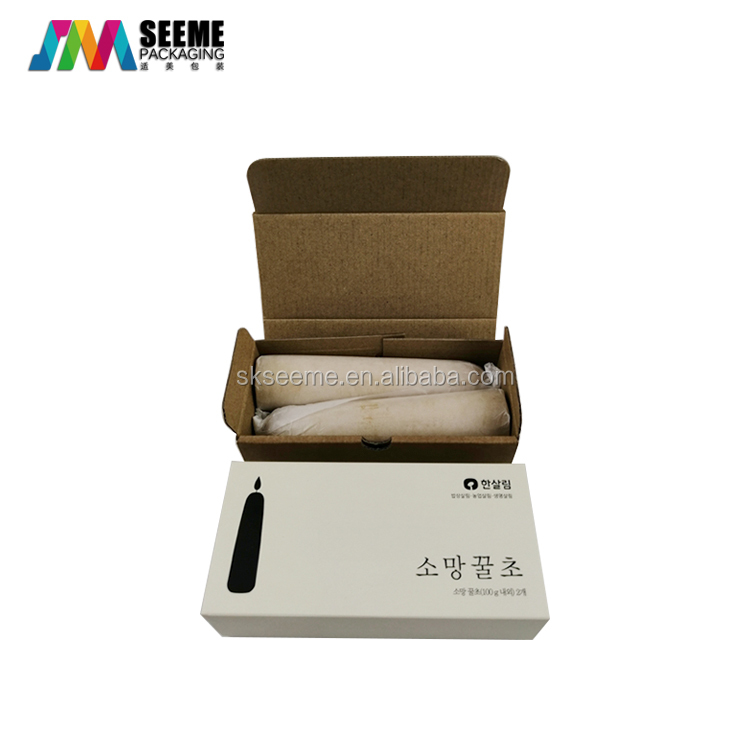Custom candle packaging gift boxes corrugated  paper boxes with sleeves