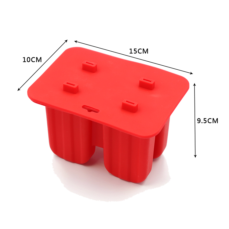 4 / 10 Cavities Eco-Friendly Kitchen Gadgets Dining Bar Accessories Household Child Silicone Ice Cream Tubs Popsicle Mold