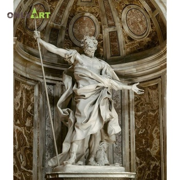 Hand carved life size artifical famous marble standing statue saint for sale religious decoration