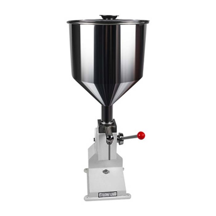 <strong>A03</strong> Cream dual manual filling machine for tubes bags bottles liquid paste filler
