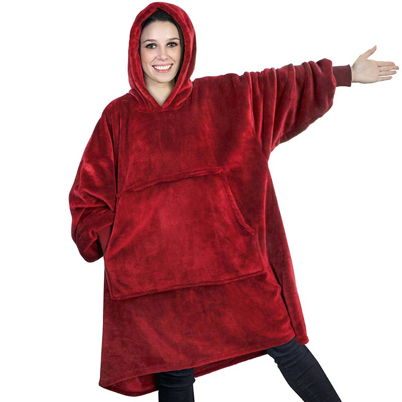 Winter Christmas Blanket Sweatshirts Oversized Hoodies Giant For Women Hoody <strong>Plaid</strong> With Sleeve Sudadera Mujer Moletom Feminino