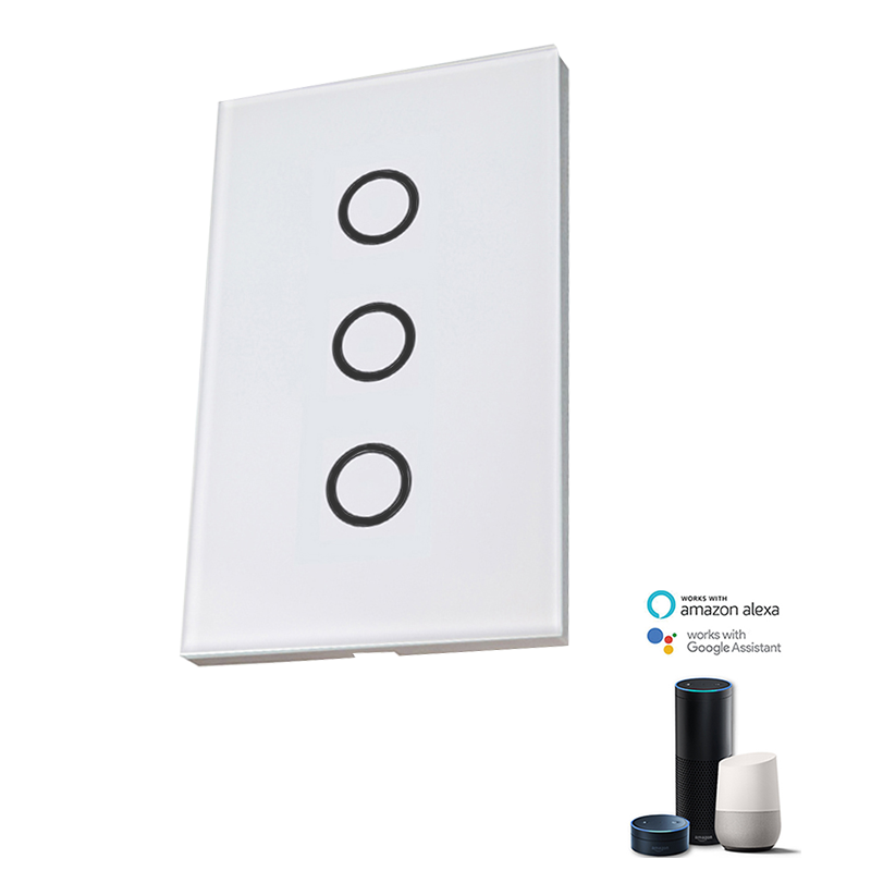 OEM Factory Direct Sale Tuya Modern Wifi Smart Home Touch <strong>Switch</strong> In Wall From China Wholesale USA 3Gangs Interruptor