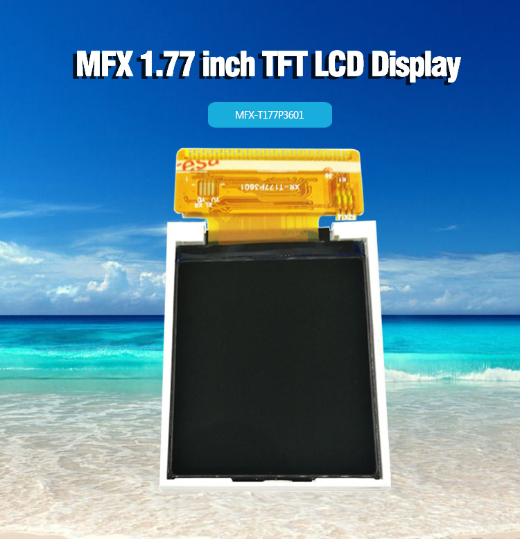1.77&quot; TFT LCD display module with 128*<strong>163</strong> resolution,DC 2.5-3.3V, 3 bin SPI interface or I80 systrm8 16 bit parallel interface