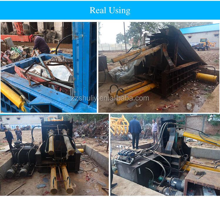iron baler machine scrap metal car baler hydraulic scrap metal briquetting press