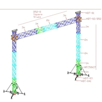 LED Monitor Support System , aluminum LED display truss
