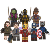 WM6068 Marvel 4 Building Blocks Howard Sharon Carter Steven Rogers Black Panther Shuri Gamora Doctor Strange Hawkeye Kids Toys