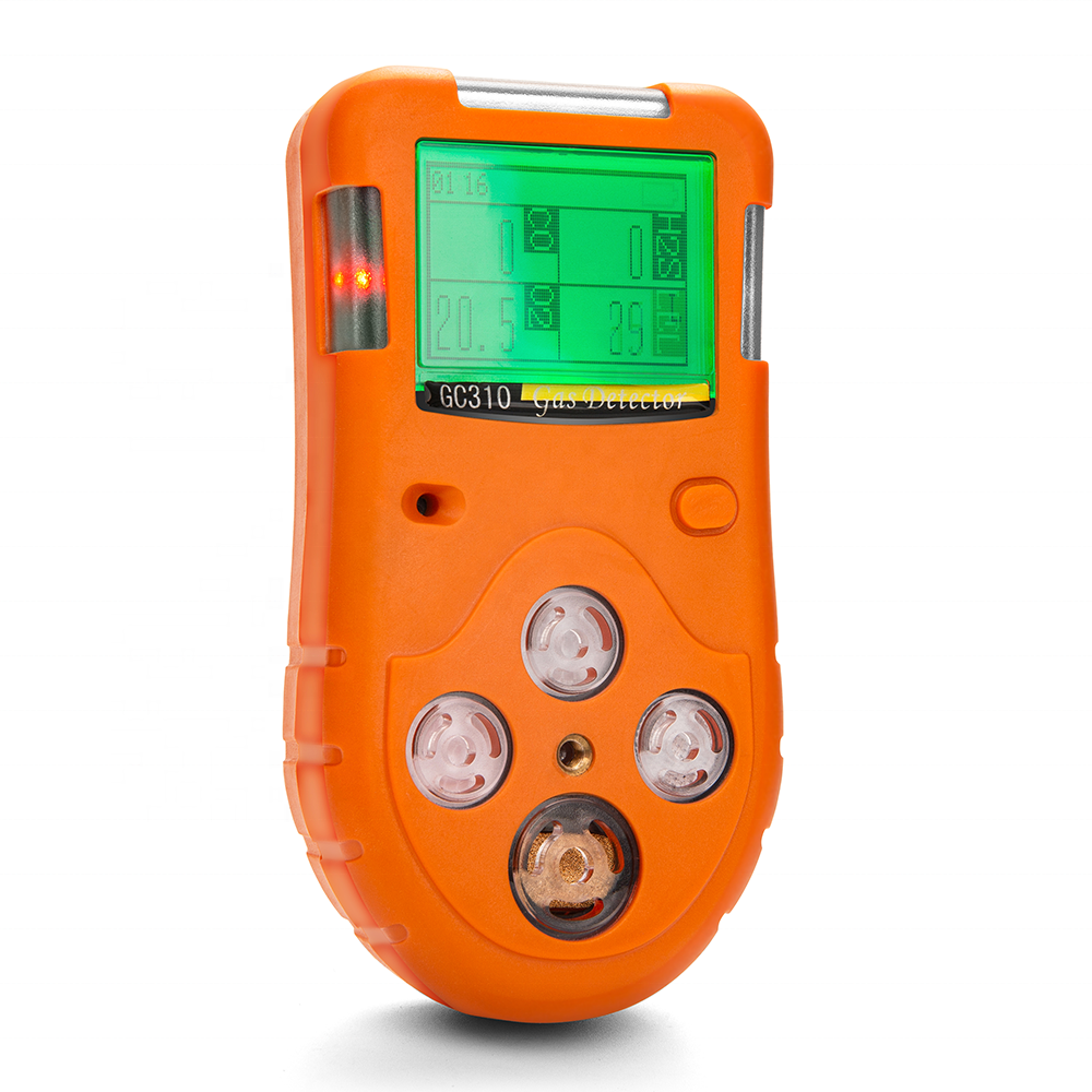 Portable multi <strong>gas</strong> detector alarm GC310 for CO H2S O2 LEL,four <strong>gas</strong> in one