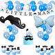 Birthday Party Decor Mustache little man party supplies with banner ,balloons,cupcake toppers for decoration baby shower