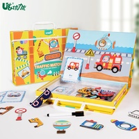 Kids Traffic Toy Children's Educational toys Magnetic Puzzle Game