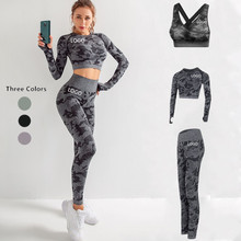 Women Custom Printed Gym Fitness Compression Workout Sport Seamless Tights Leggings Yoga Pants Yoga Clothes