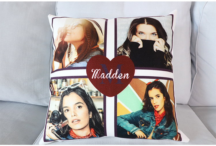 High Quality Sublimation Blanks White Linen Pillow Case for Personalization