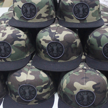 Custom military camouflage army style cap wholesale,  flat bill digital camo Snapback hats with logo