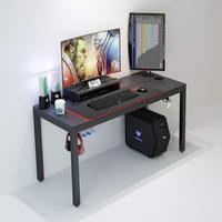 Black modern all-in-One Gaming Desk with LEDs