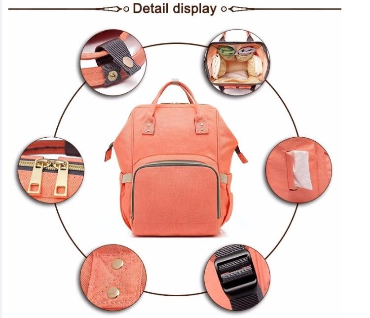 Fashion Cheap Large Capacity Designer Diaper Bag Mummy Backpack