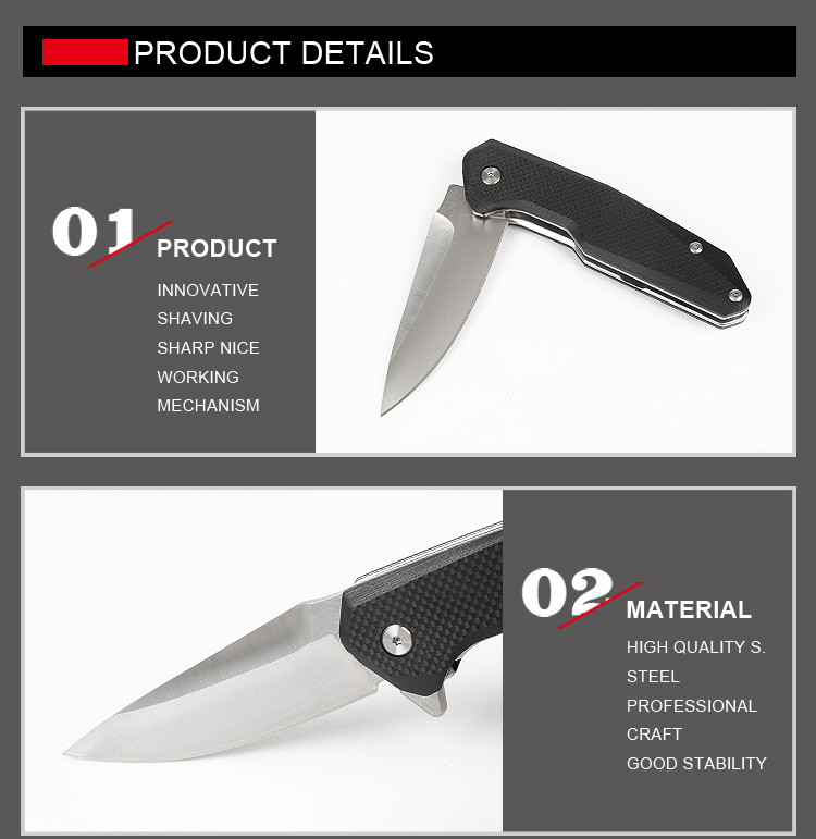 new OEM wholesale durable G10 handle tactical folding survival knife for outdoor campinig hunting