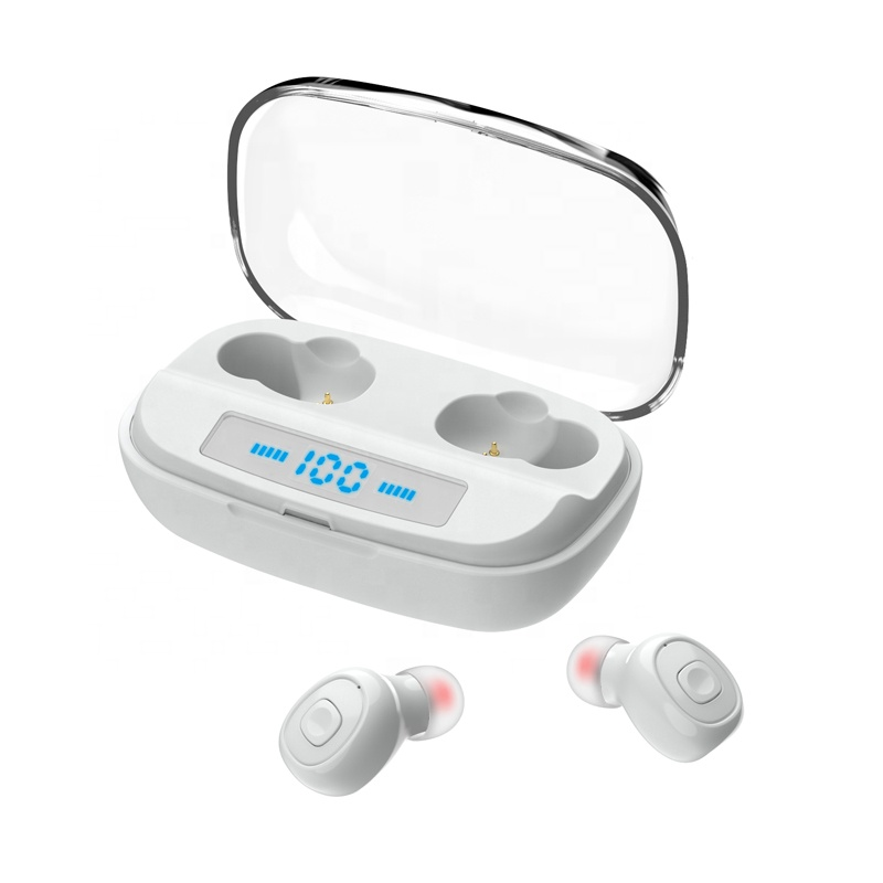 <strong>Promotional</strong> gift waterproof ipx5 earbuds noise cancelling earphones with power bank case