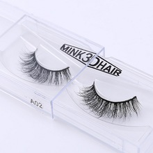 3D Mink Eyelash Real Mink Handmade Crossing Lashes Individual Strip Thick Lash Fake Eyelashes <strong>A02</strong>