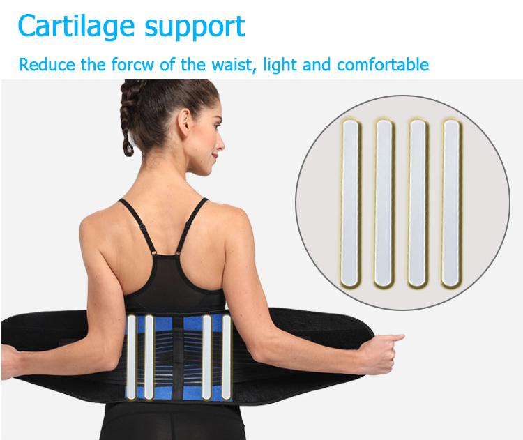Ceinture de soutien du bas du dos de la taille lombaire GYM musculation entraînement de remise en forme attelle de taille