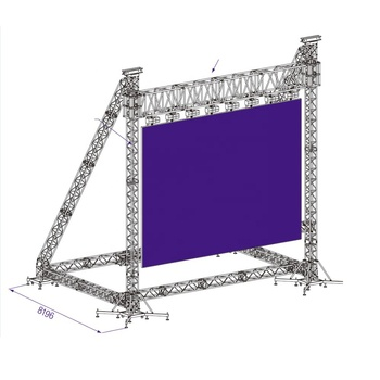 China ground support truss system , LED screen truss system support truss