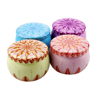 Stock Low MOQ High Quality Round Metal Candy Mint Gift Candle Tins Box