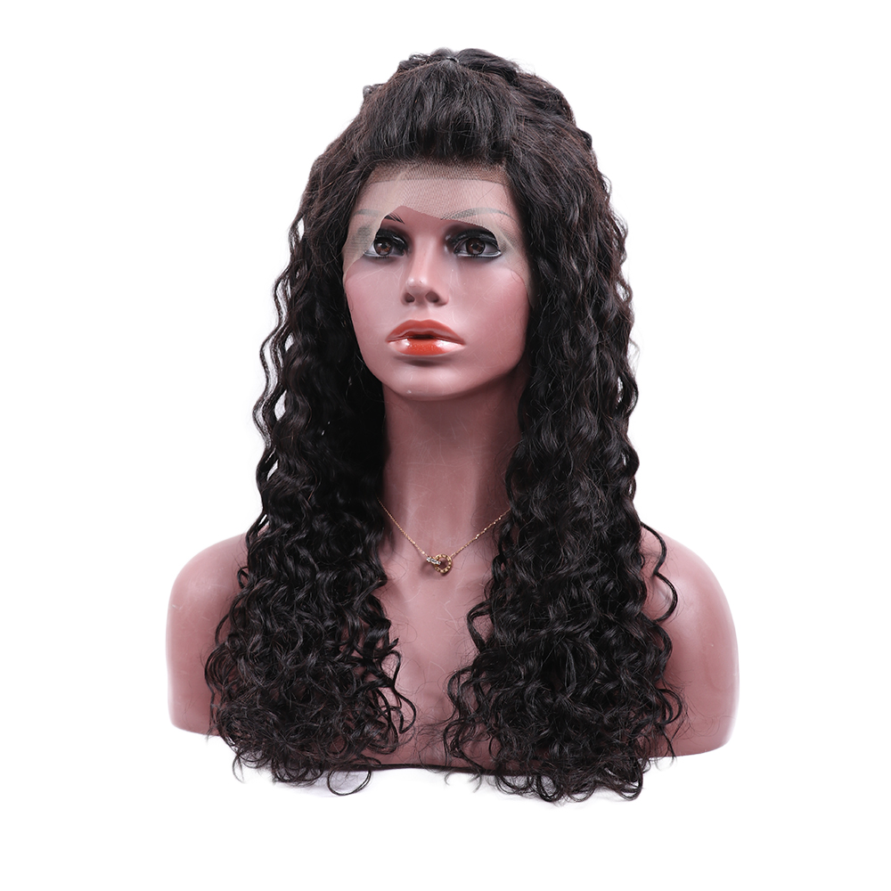 200% Density 13x6 Lace Frontal Human Hair Wig Virgin Indian Human Hair Wigs Water Wave Wigs For Black Women