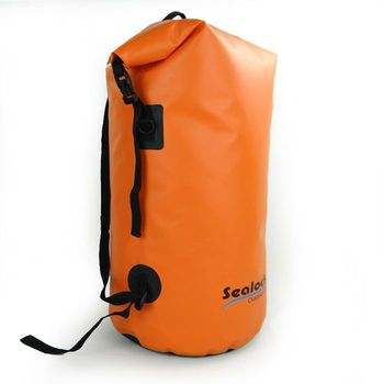 orange strong waterproof backpack bag for traveling,camping