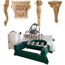 Engraving Carving Furniture Wooden Chair Leg Rotary 4 Axis CNC Router Machine