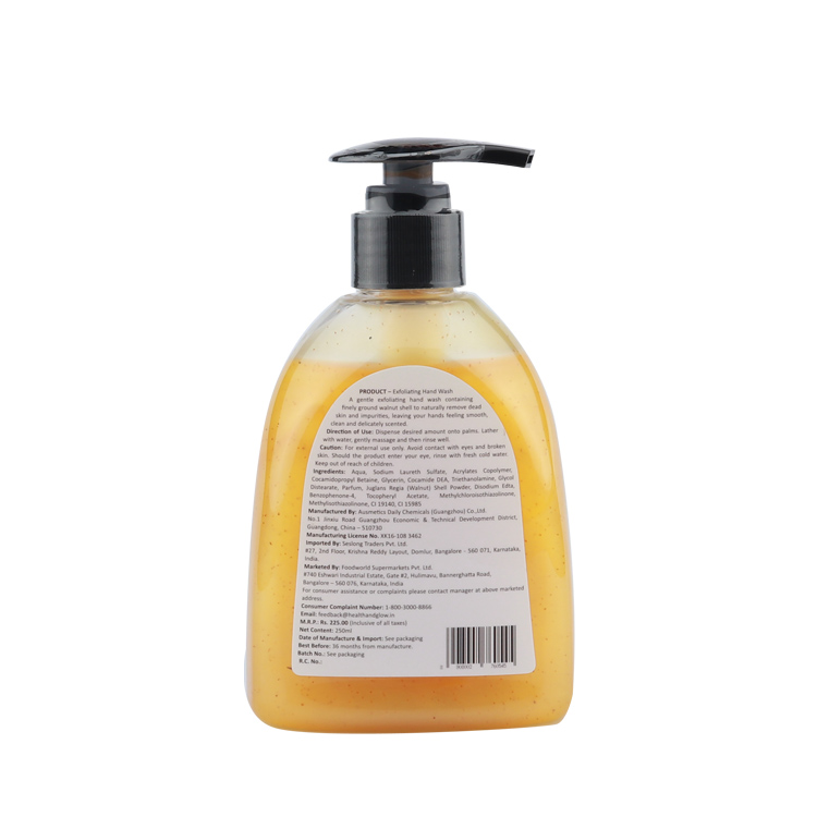 FDA approval no animals tested hand wash gel no parabens phthalates hand gel