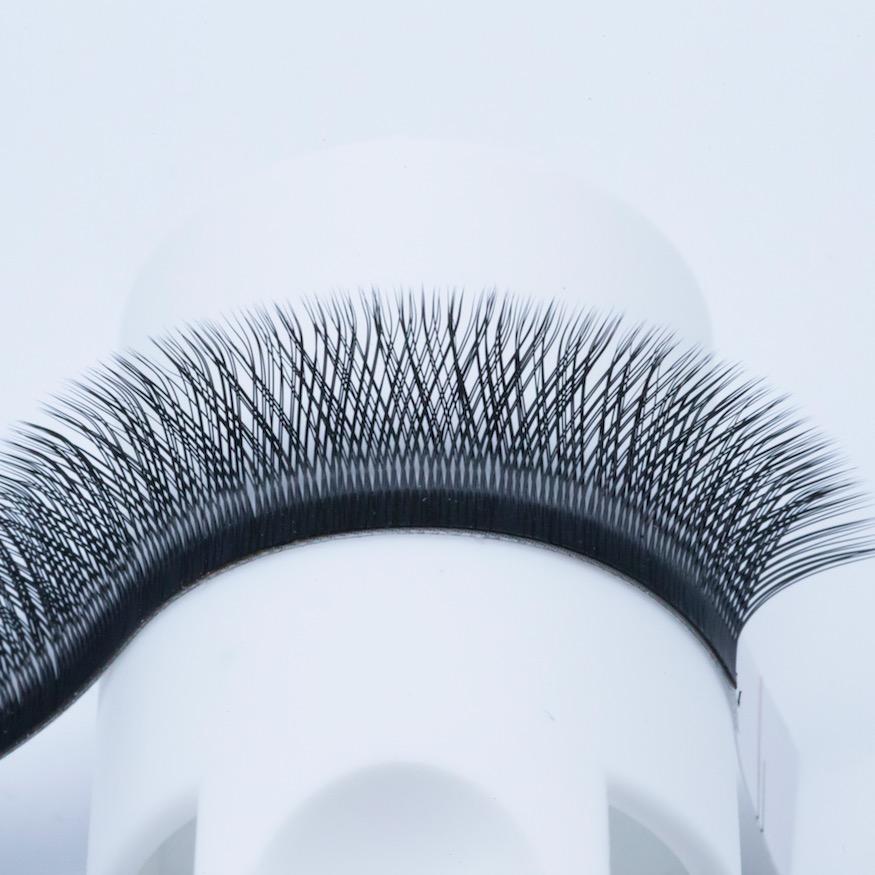 Free sample Round handmade black <strong>Y</strong> 0.07 J curl mix length eyelashes extension