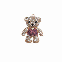 New product handmade diamond-encrusted cute bear mobile phone case sticker plastic accessories pendant accessories