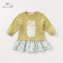 DBM11019 dave bella autumn children party clothes baby <strong>girl's</strong> <strong>dress</strong>