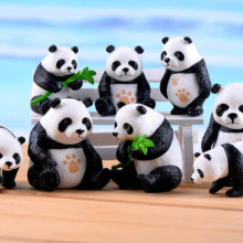 promotional kids figure children toys wild zoo panda plastic <strong>animals</strong> miniature
