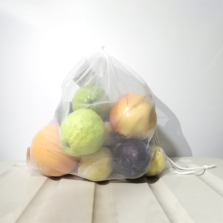High Quality eco friendly Drawstring fruit vegetable food market shpopping mesh weldded bag