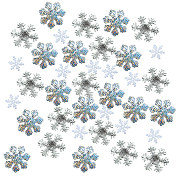 3 Mixed Snowflakes Cake Table Confetti For Xmas Party Decor Accessories Winter Wedding Happy New Year Arts Crafts Party Decor