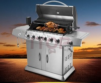 Outdoor kitchen bbq grill garden party use bbq grills Party Smokeless LPG/NG Barbecue Machine BBQ Grill