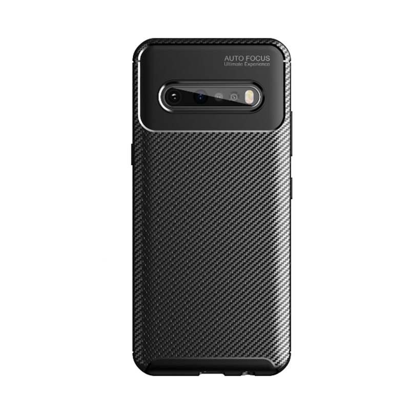 Beetle Retro Business <strong>Phone</strong> Cover Carbon Fiber Case for LG V60 ThinQ 5G