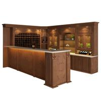 Cabinet Storage Display Wooden Antique Wine Bar Cabinet
