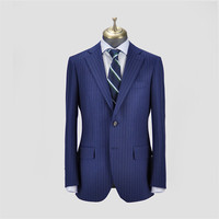 Factory price wholesale custom design men blue woolen wedding suits