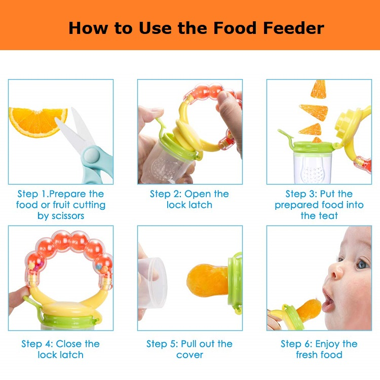 New Arrival BPA Free Baby Silicone Vegetable Fruit Pacifier Fresh Food Feeder Nipple Soother