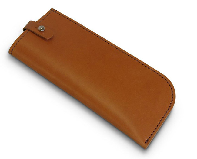 Premium customized Tan leather sunglasses case bag holder