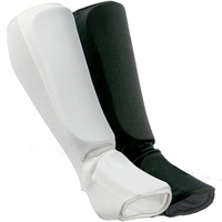 White Karate Elastic Cotton Shin Guard Shin Instep Protector