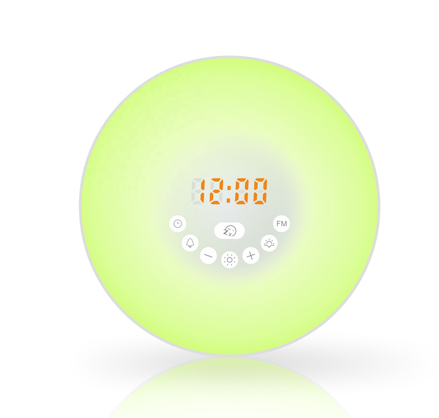 <strong>Touch</strong> sensor portable led wake up light with FM radio