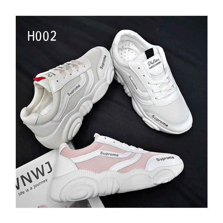 New 2020 casual sneakers women daddy platform little white mirror shoes for women <strong>H02</strong>