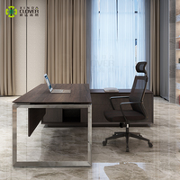Office furniture executive desk modern boss table l shape director table DIA
