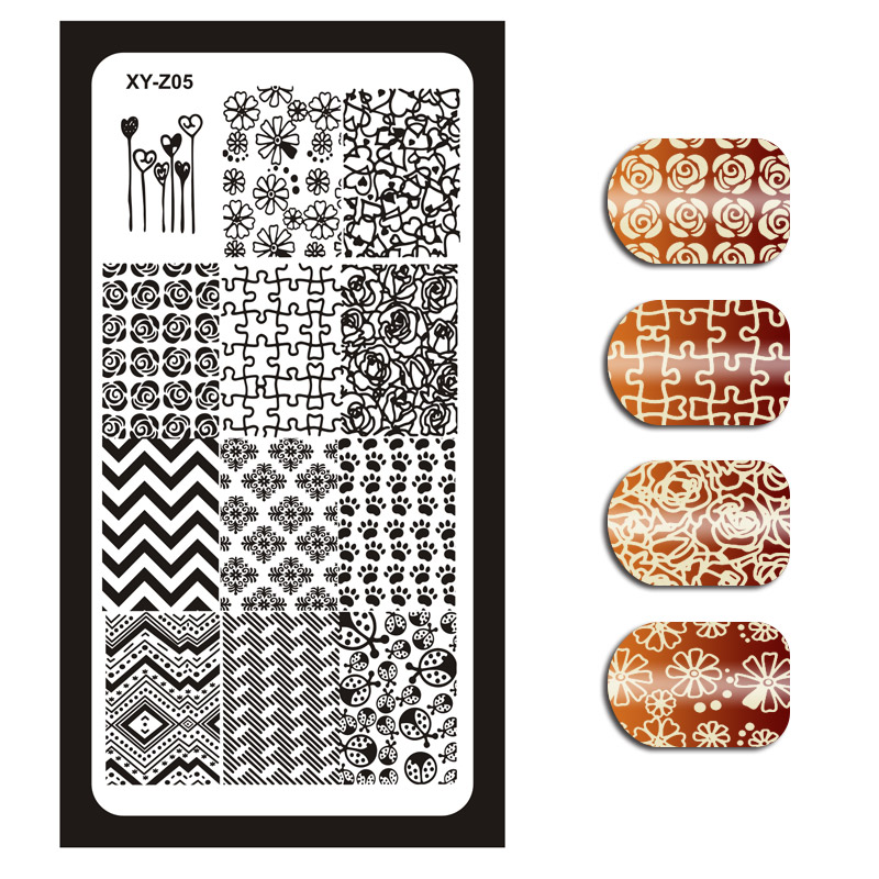 <strong>OEM</strong>/ODM acceptable nail art tool stamper plate 50pcs transfer printing nail stamping plate XY-Z01-15