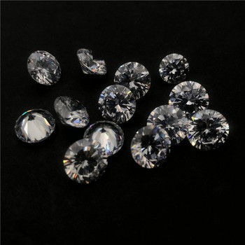 Round Cut CZ 1mm 2mm 3mm Synthetic Loose Stones Cubic Zirconia