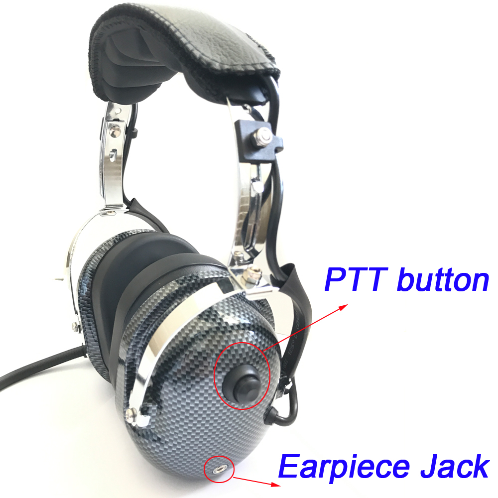 Aircraft noise cancelling headset military aviation headsets for General Aviation