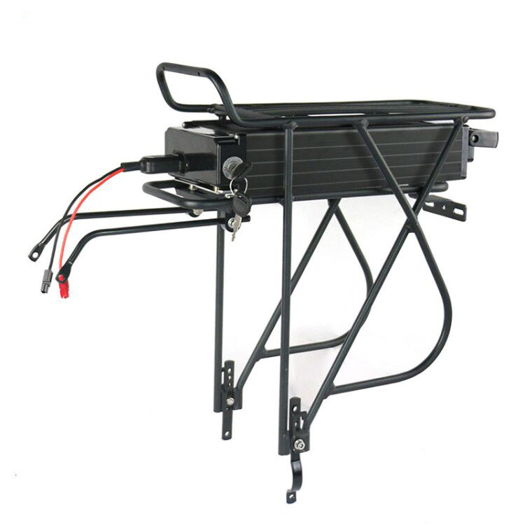 Germany stock free shipping 48V 18ah lithium electric bike battery pack with rear rack for ebike <strong>D</strong> brake